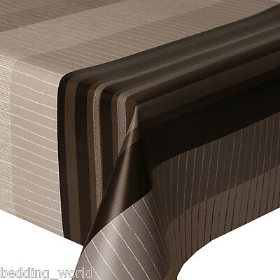 PVC TABLE CLOTH GREY MARILA STRIPE LINES BLOCK BLACK SPECKLE WIPE ABLE PROTECTOR