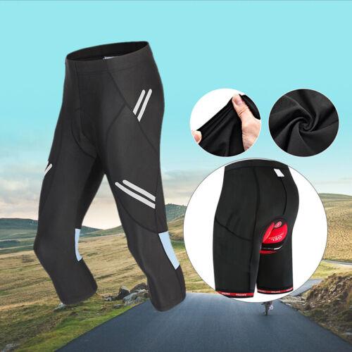 Men/'s Cycling Shorts Gel Padded Tights Cooling MTB Bike Bicycle Riding 3//4 Pants