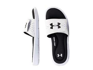 fc278b37c Under Armour Kids Boy UA B Ignite IV SL Slide Sport Sandal White ...
