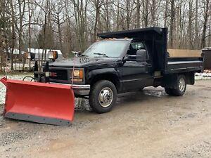 2000 gmc 3500 4x4 dump and boss v plow