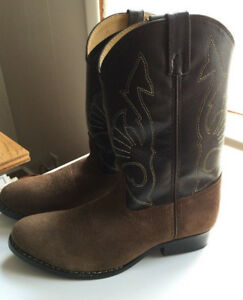 6399e6c4d77 Details about Boys Youth Cowboy Boots Size 6 D Brown Leather Seude  RB2003-Masterson Boot Co