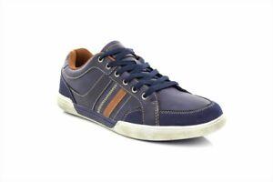 Freundschaftlich Mens Route21 M9547 Casual Lace To Toe Leisure Trainer Shoes Navy Pu/synth.suede Lassen Sie Unsere Waren In Die Welt Gehen Business-schuhe