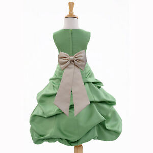 CLOVER-GREEN-ST-PATRICK-DAY-FLOWER-GIRL-DRESS-WEDDING-BRIDE-Christmas-Holiday