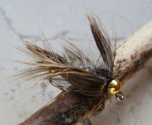 March Brown GILCHRIST FLIEGEN Goldkopfnymphen 3 Stück von einer Größe