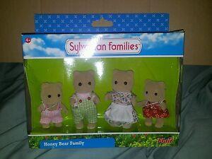 Adaptable Sylvanian Families Honey Bear Family-scellé, Coffret, Neuf Et Rare-afficher Le Titre D'origine Saveur Pure Et Douce