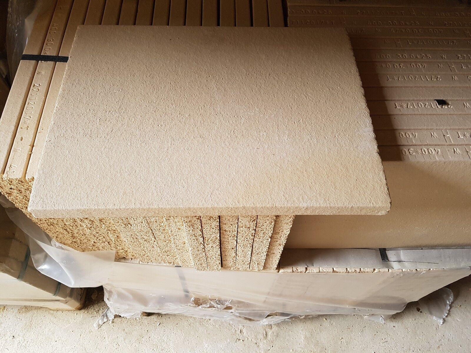 20 x Profi Schamotteplatte  400 x 300 x 25  mm Schamottplatte Schamotte Platte
