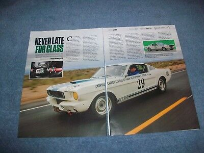 "1965 Shelby Gt350 Mustang Schule Ca Artikel "" Never Late To Class G.t.350"