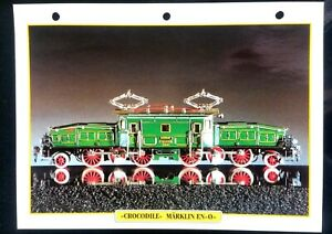 "Fiche Trains Jouets & Modélisme Ferroviaire; ""Crocodile"" Märklin en ""O"" wAbNy4cb-08065007-276768486"