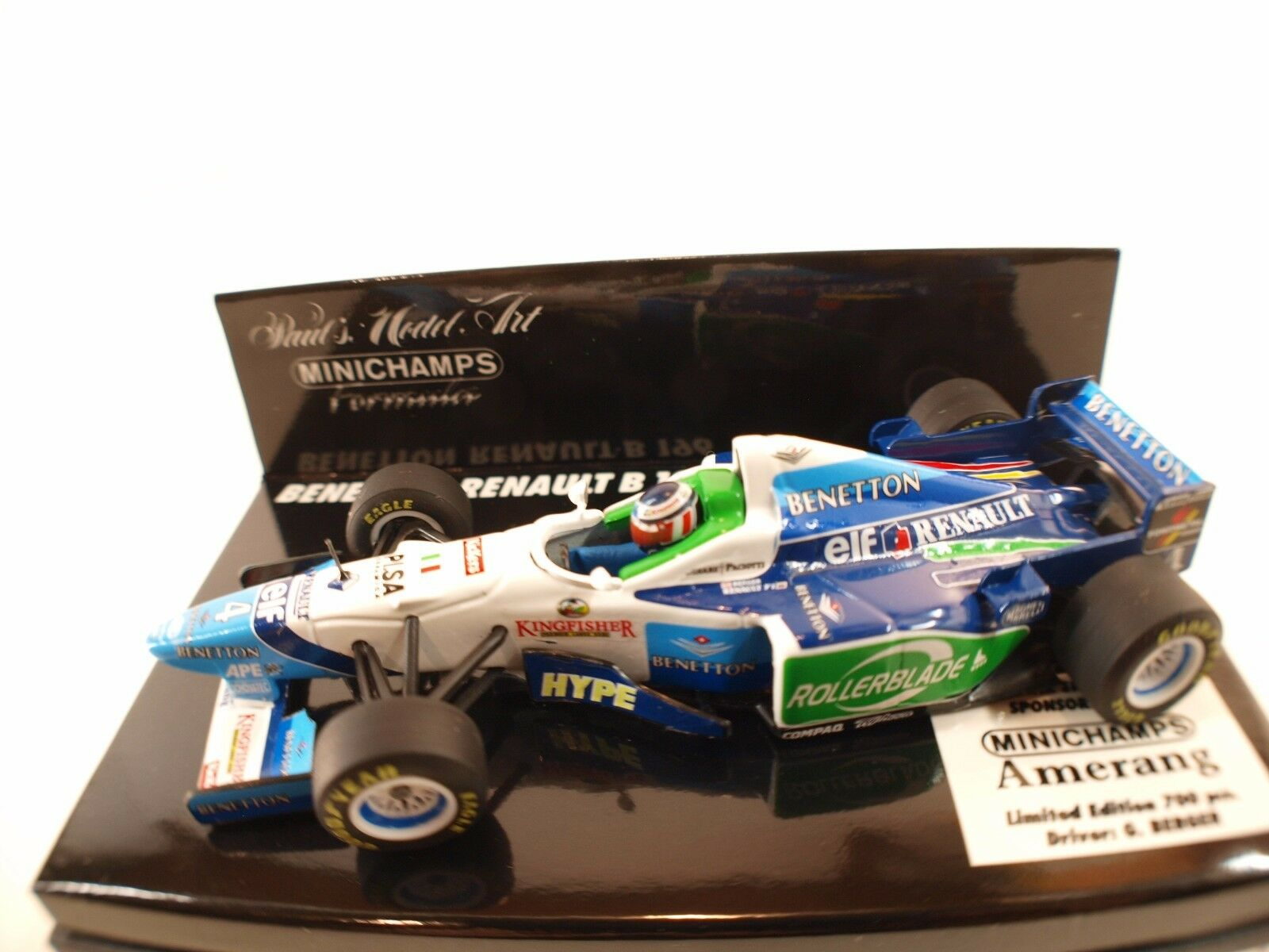 Minichamps benetton renault b196  43 berger amerang new in box boxed