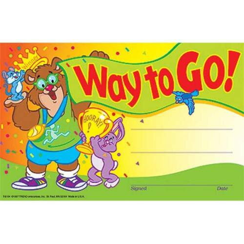 30 Kids Way to Go Award children/'s certificate Pad