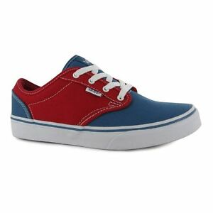 Image is loading VANS-Atwood-Red-Blue-2-Tone-Junior-Sneakers 78d0351f2