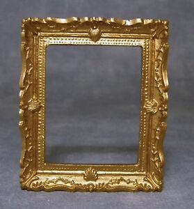 1:12 Scale Gold Ornate Cadre Photo avec acétate tumdee Maison de Poupées Accessoire  </span>