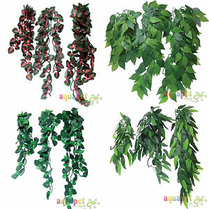 Reptile-Vivarium-Realistic-Jungle-Silk-Plant-Vine-Decor-Small-Medium-Large