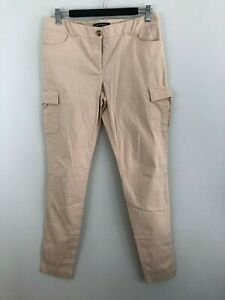 The-Letter-Q-Womens-Jeans-Size-10-Light-Pastel-Pink-Stretch-Straight-Cargo