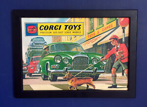 Corgi-Toys-1963-Vintage-Catalogue-Cover-Framed-A4-Size-Poster-Sign-Advert