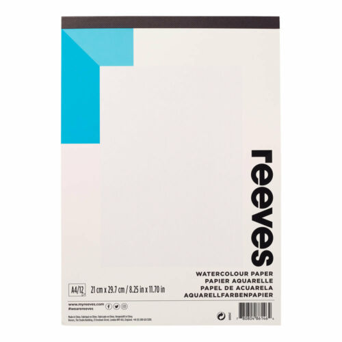 Reeves Artists WATERCOLOUR PADS painting student designers 190gsm paper 12 sheet