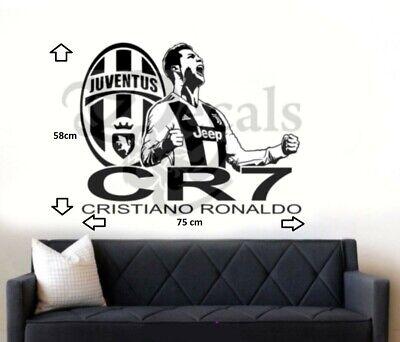 Ronaldo Footballer Full Colour 3D Smashed Wall Art Sticker Decal Mural Transfers