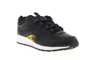 DC-KALIS-Lite-SE-ADYS-100382-Herren-Schwarz-Leder-Niedrig-Top-Skate-Sneakers-Schuhe-7-5