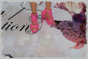 Fashion-Chaussure-Rose-Barbie-Poupee-Mannequin-Dress-Princesse-Mode-Tres-chic
