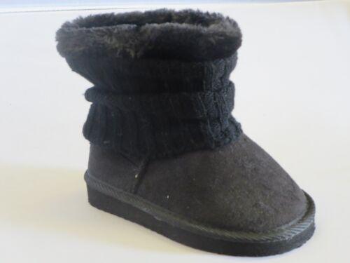 francis-i Girl Winter Boots Sock Trim TODDLER Blacks Leopard Gray
