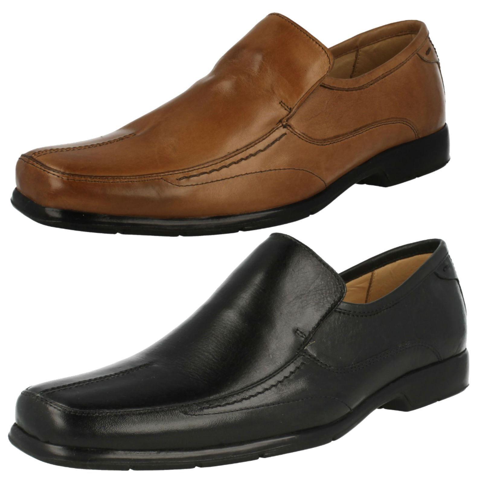 Petropolis - Mens Formal Slip On Leather Shoes 2 Colours- Black & Bronze!