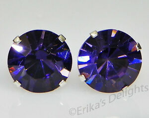 (3mm - 10mm) Crystal Iris Sterling Silver Earrings Using Swarovski Elements