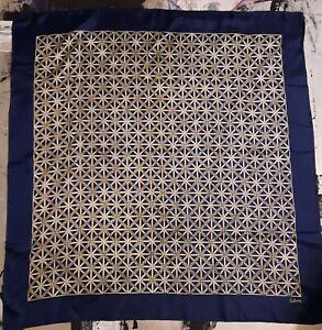 Vintage-1960-039-s-Geometric-Silk-Scarf-by-Echo-22-x-22