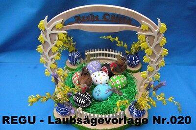 """Laubsägevorlage Nr.020 """" Das Osternest"""" Zum Selber Aussägen Regu Basteln"""