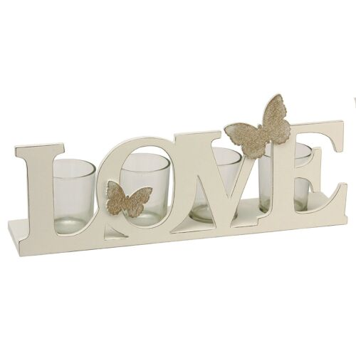 Vintage BUTTERFLY Love Letters Tea Light Candle Holder Gift Juliana Home Living