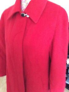 42 80 Quattro Questa Italian Hols stagione taglia rosso cappotto lana colore immacolato vFdXw