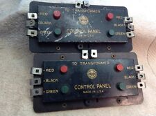 LOT OF TWO MARX DUAL SWITCH CONTROL PANELS, WORK WITH LIONEL, AMERICAN FLYER ???