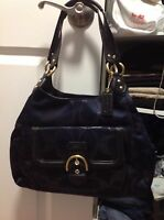 COACH F26245 Campbell Signature Metallic Hobo in Excellent Condition! VERY RARE
