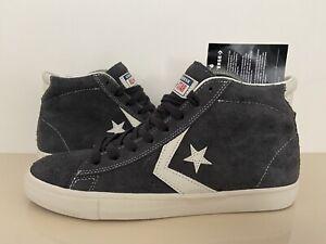 Converse All Star Pro Leather Vulc Mid Blu Tg UK 8.5 BNWT