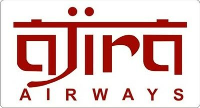 """LOST - Ajira Airways - Sticker - 3"""" x 5.5"""""""