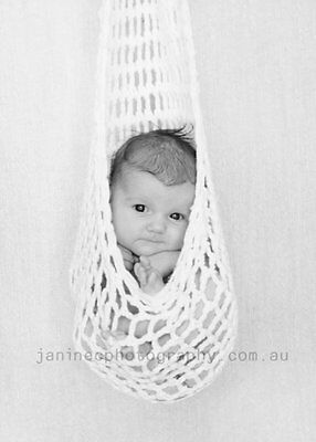 Hanging Baby Cocoon Pod Photography Photo Prop Newborn 0-3 months Handmade WHITE