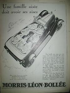 Publicite-de-Prensa-Morris-Leon-Bollee-Automovil-Ilustracion-Coulon-Ad-1926
