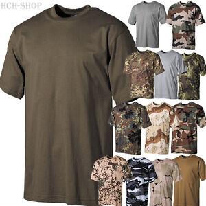 MFH-Hombre-EEUU-camiseta-media-manga-cuello-redondo-100-Algodon-170g-M