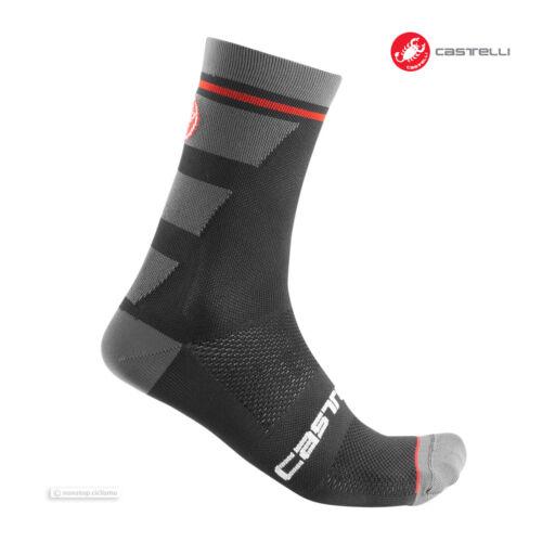 Castelli TROFEO 15 cm Tall Cuff Cycling Socks One Pair BLACK