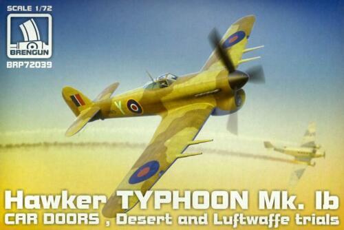 "Brengun Models 1//72 HAWKER TYPHOON Mk.IB /""CAR DOOR/"" Desert /& Luftwaffe Trials"
