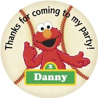 Elmo Baseball Inspired Personalized Gift Tags Or Stickers Reference114
