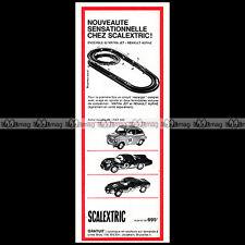 SCALEXTRIC 1967 CIRCUIT SLOT CAR RACING VINTAGE Pub Pubicité Ad Advert #C265