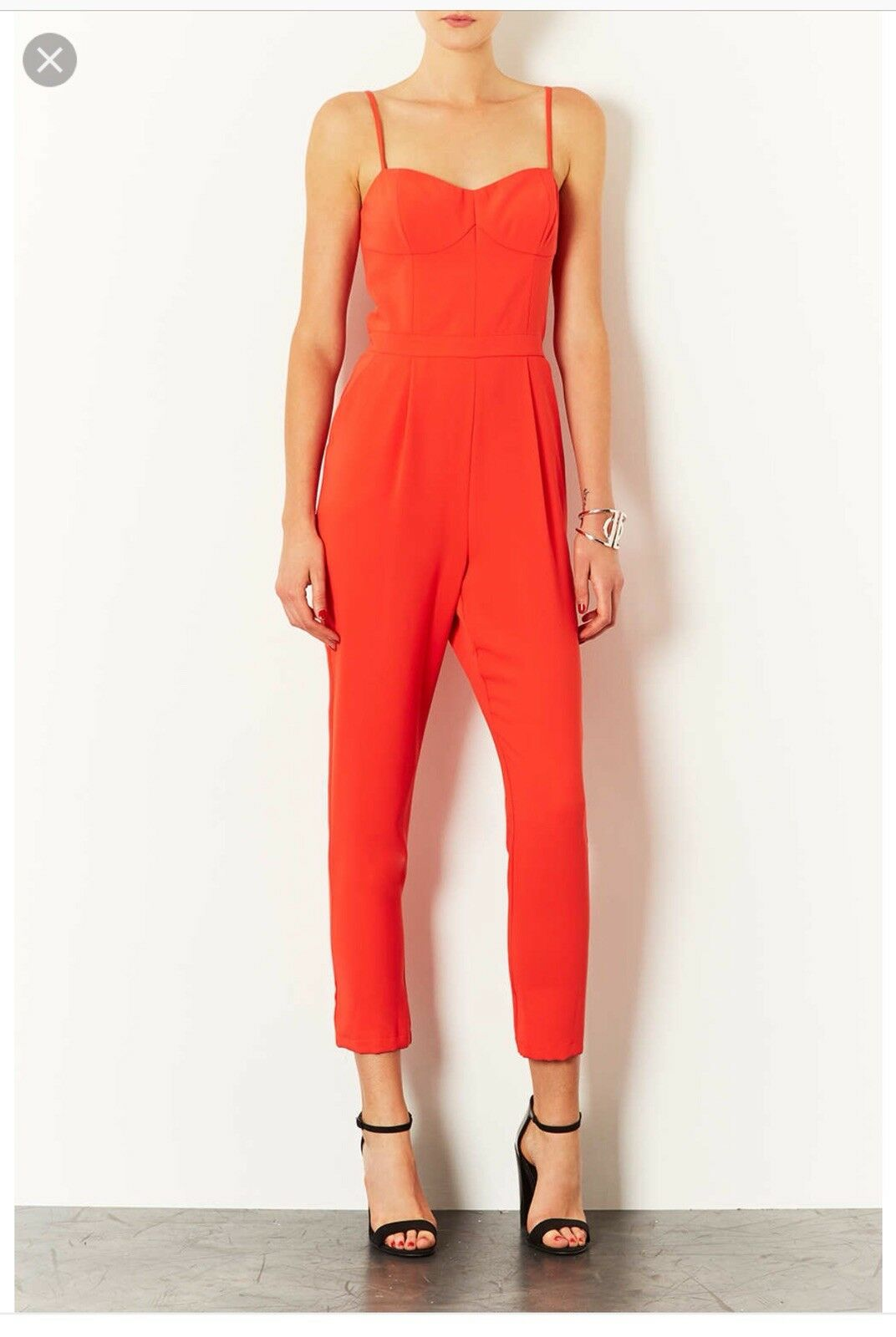 Topshop Strappy Coral Jumpsuit UK8