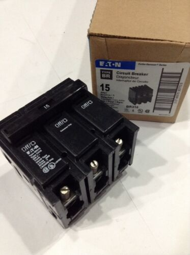 CUTLER HAMMER BR315 NEW CIRCUIT BREAKER 15A 3 POLE 240VAC Box Of 5