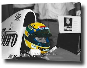 Details About Ayrton Senna Canvas Art 30 X20 Wall Art Print F1 Motivational Quote Formula On