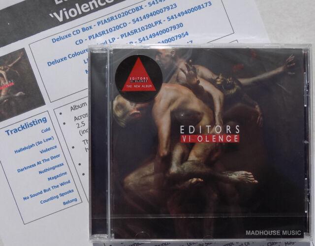 EDITORS CD Violence 2018 Album + Promo Info Sheet IN STOCK Sealed