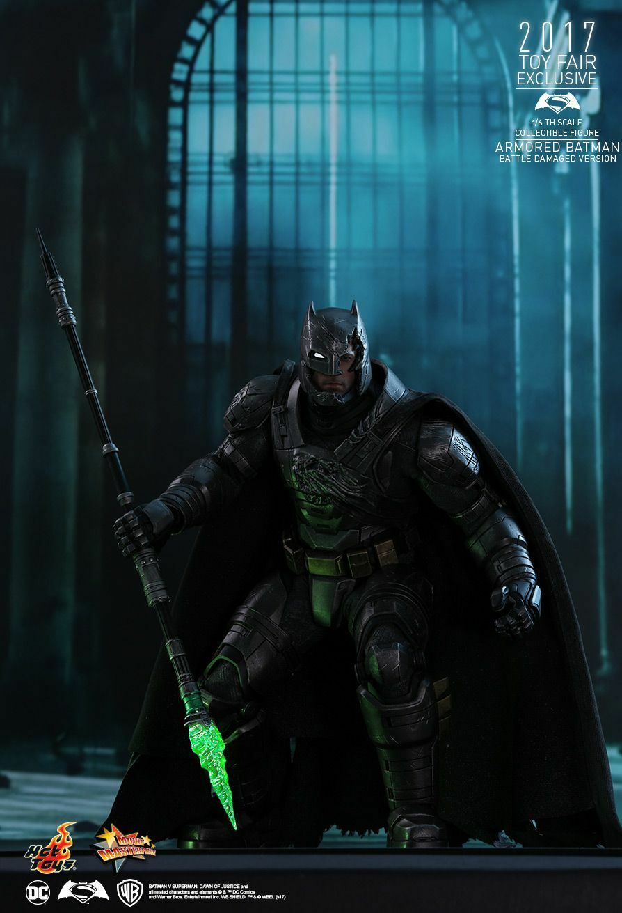 Hot Toys 1/6 BvS Dawn of Justice Justice Justice ArmoROT Batman Battle Damaged Version MMS417 1a8369