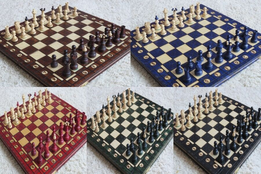 Very Elegant Chess Chess Game Junior Chess Board Wooden Handmade New OVP