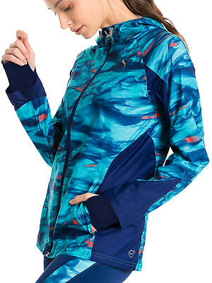 Motiviert Puma Last Lap Graphic Womens Running Jacket - Blue üBerlegene Materialien