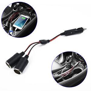 Double-Power-Dual-Car-Cigarette-Lighter-Sockets-Plug-Adapter-Charger-Splitter-US