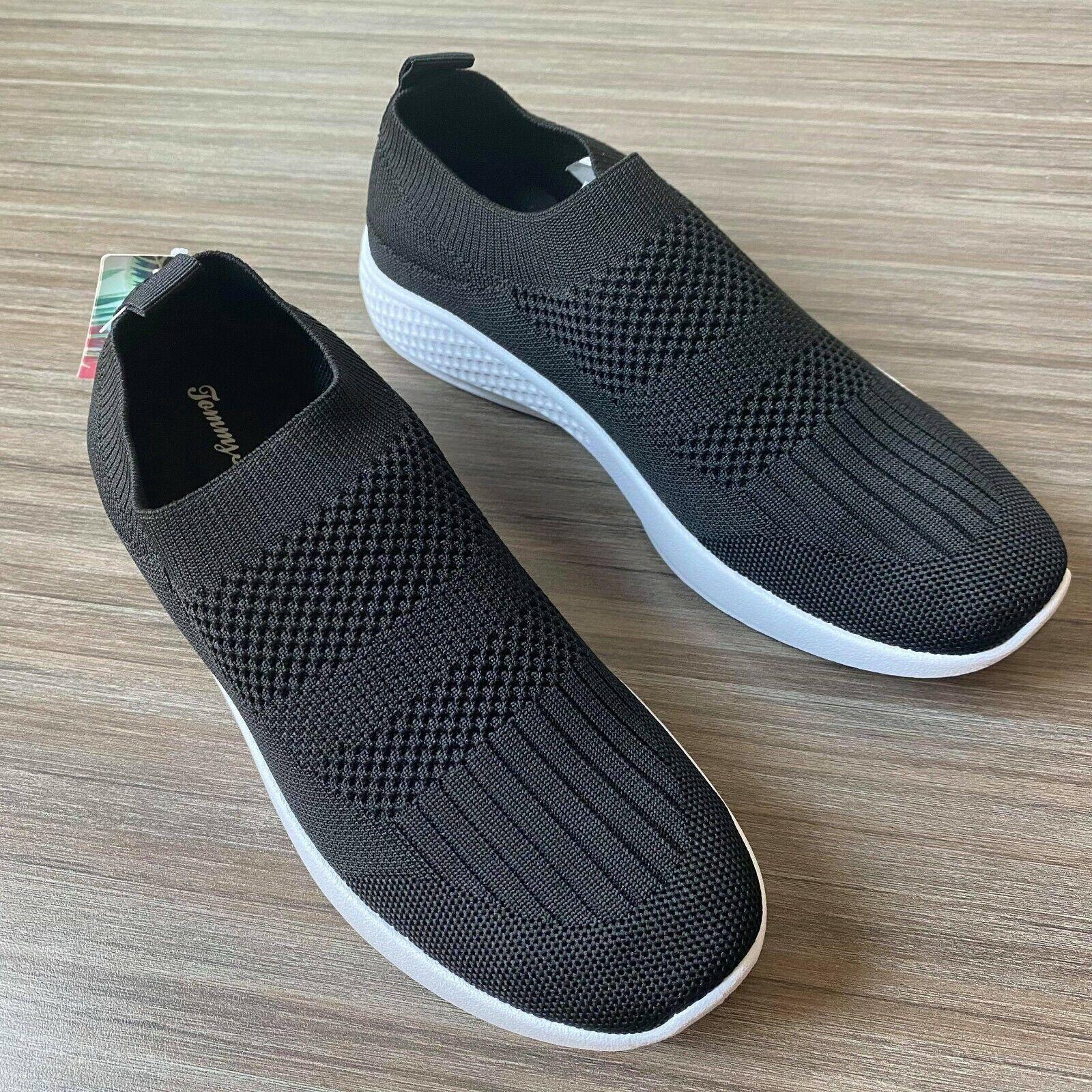 Tommy Bahama Knit Slip-On Memory Foam Black Shoes Women's Size 7.5